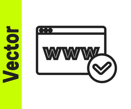 Black line Website template icon isolated on white background. Internet communication protocol. Vector
