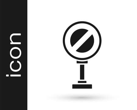 Grey Stop sign icon isolated on white background. Traffic regulatory warning stop symbol. Vector Illustration