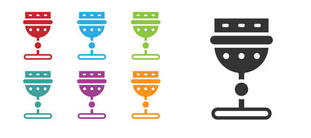 Black Medieval goblet icon isolated on white background. Set icons colorful. Vector