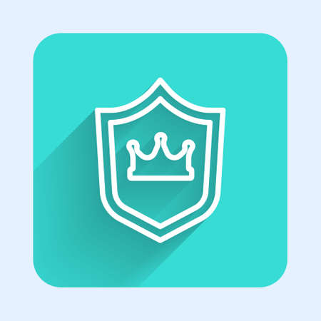 Shield with crown icon isolated on white background. Vector Ilustrace