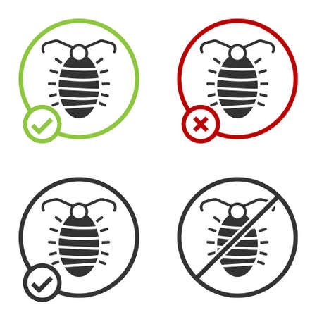 Black Larva insect icon isolated on white background. Circle button. Vector