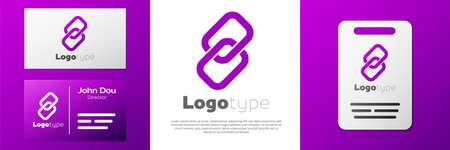 Logotype Chain link icon isolated on white background. Link single. Hyperlink chain symbol. Logo design template element. Vector