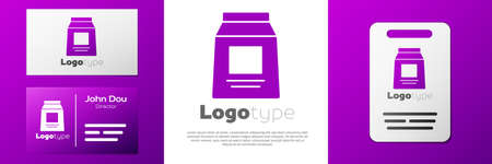 Logotype Sports nutrition bodybuilding proteine power drink and food icon isolated on white background. Logo design template element. Vector Иллюстрация