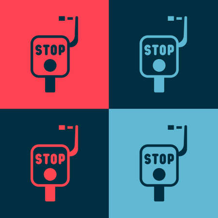 Pop art Emergency brake icon isolated on color background. Vector