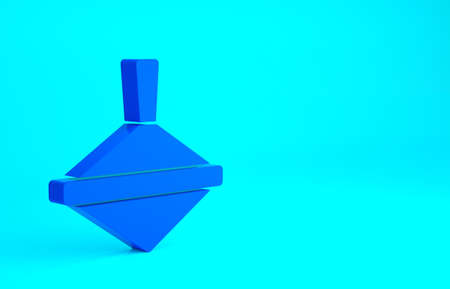 Blue Whirligig toy icon isolated on blue background. Minimalism concept. 3d illustration 3D render