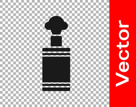 Black Hand grenade icon isolated on transparent background. Bomb explosion. Vector 向量圖像
