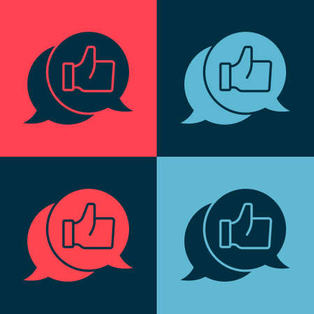 Pop art Consumer or customer product rating icon isolated on color background. Vector