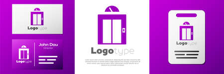 Logotype Lift icon isolated on white background. Elevator symbol. Logo design template element. Vector