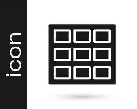 Black Chocolate bar icon isolated on white background. Vector Ilustracja