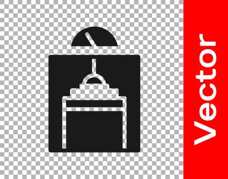 Black Lift icon isolated on transparent background. Elevator symbol. Vector