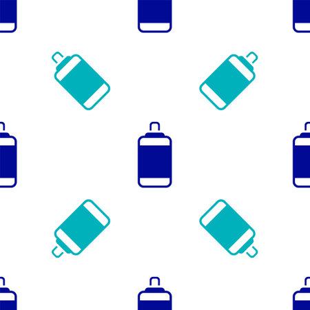 Blue Punching bag icon isolated seamless pattern on white background. Vector Ilustracja