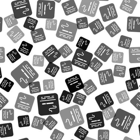 Black Smoking area icon isolated seamless pattern on white background. Vector
