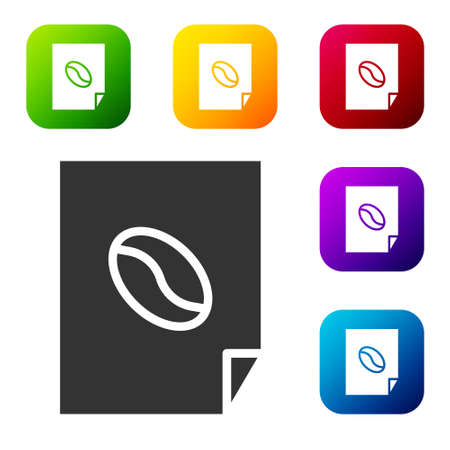 Black Coffee poster icon isolated on white background. Set icons in color square buttons. Vector Illustration  イラスト・ベクター素材