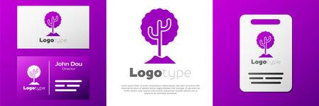 Logotype Tree icon isolated on white background. Forest symbol.