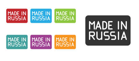 Black Made in Russia icon isolated on white background. Set icons colorful. Vector