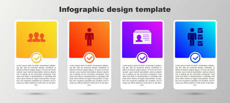 Set Users group, of man, Resume and in business suit. Business infographic template. Vector  イラスト・ベクター素材