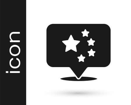 Black China flag icon isolated on white background. Vector