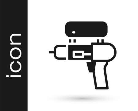 Black Water gun icon isolated on white background. Vector