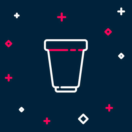 Line Water filter cartridge icon isolated on blue background. Colorful outline concept. Vector
