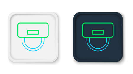 Line Bellboy hat icon isolated on white background. Hotel resort service symbol. Colorful outline concept. Vector