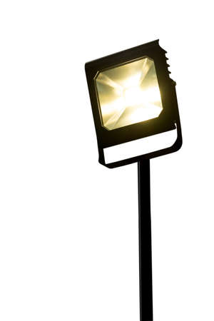 led lighting: Garden LED spotlight on stand White background