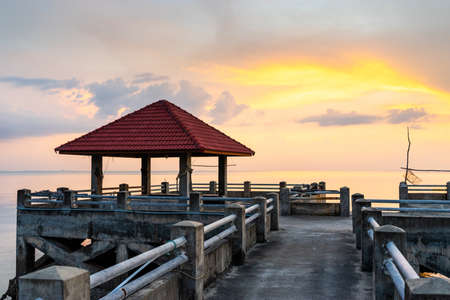 Seafront pier in Thailand