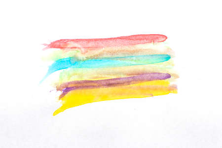 Many watercolor colors draw in multiple layers.