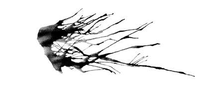 Abstract black Color dispersion in the same direction