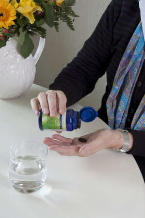 Health issues - senior woman and healthcare