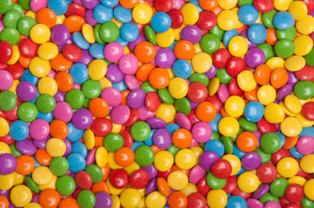 Large surface of multy colored candy viewed from above Stock Photo