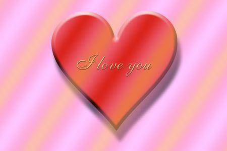 """czerwone serce z napisem """"Kocham Cię"""" Zdjęcie Seryjne - 4300551"""