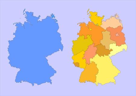 palatine: map of germany Stock Photo