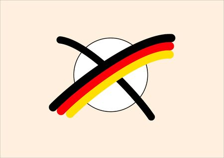election in Germany with national colors photo