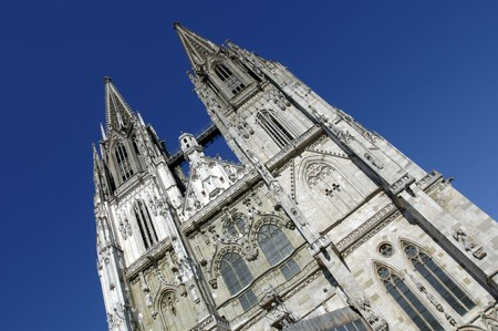 the famous old cathedral of Regensburg in Germany photo
