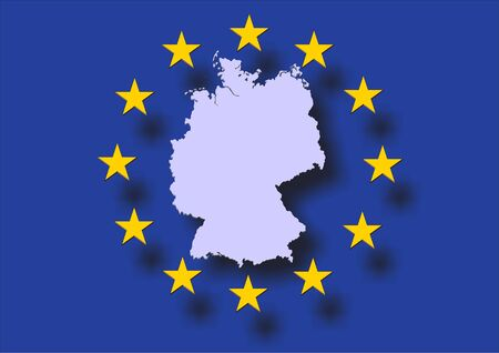 palatine: map of germany and the flag of europe