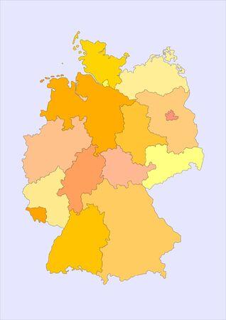 bremen: map of germany Stock Photo