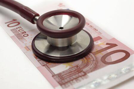 Stethoscope and 10 euro photo
