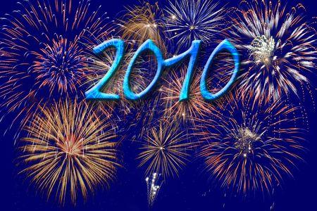 firework at new year 2010 photo