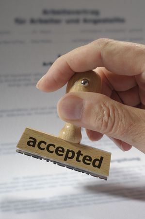 accepted business success photo