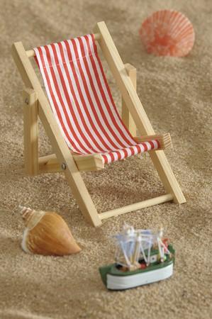 deckchair at sunny beach photo