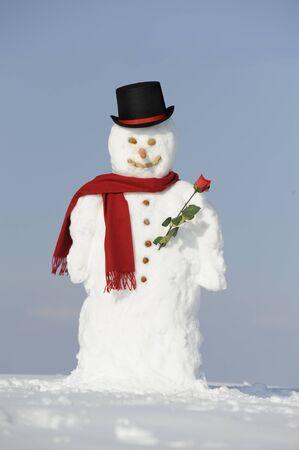 snowman as gentleman photo
