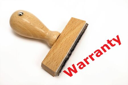 marked: rubber stamp marked with warranty