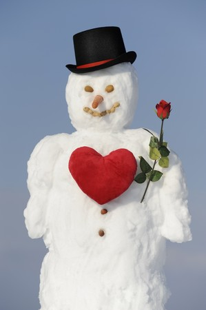 snowman as gentleman in love photo