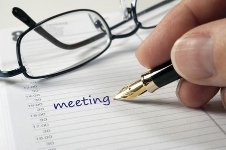 journal intime: Notez dans business Journal  Banque d'images