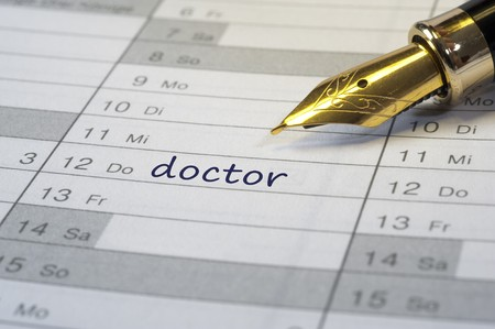 appointment: doctor date written in calendar