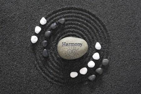 armonia: Jard�n de Zen en piedra de la armon�a y la arena negra