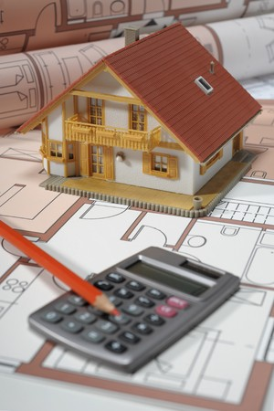 viviendas: plan de blueprint de arquitectura