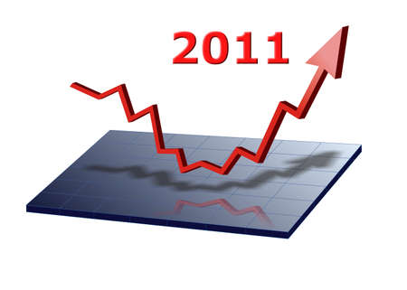 business graph shows success for 2011 photo