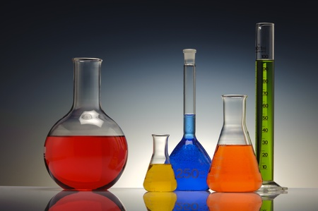 test tube glass in chemistry laboratory photo