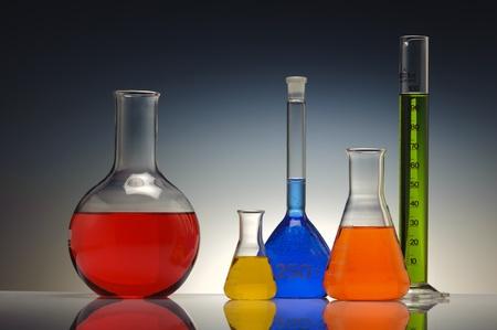 test tube glass in chemistry laboratory photo